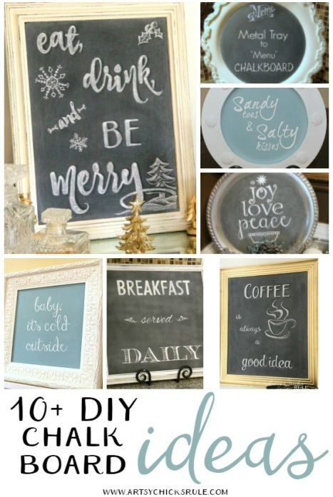 15 Fabulous Chalkboard Projects Chalkboard Projects Diy Chalkboard Fabulous Diy
