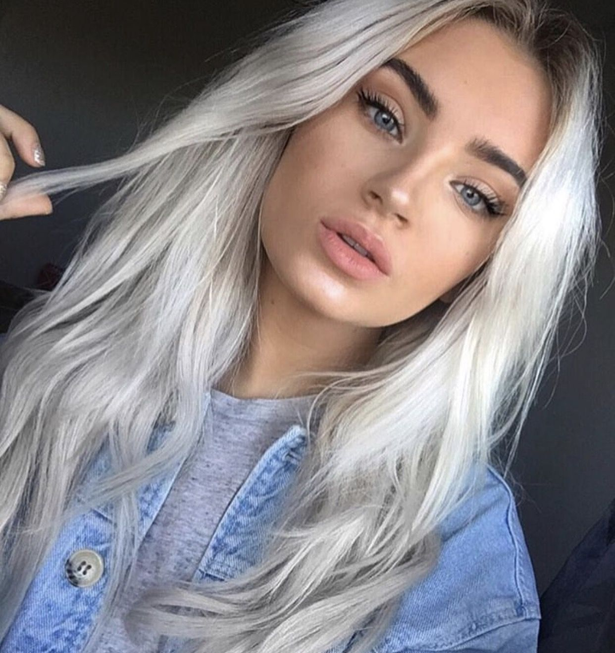 Brxkenscenes Hair Pale Skin Silver Blonde Hair Platinum Blonde Hair