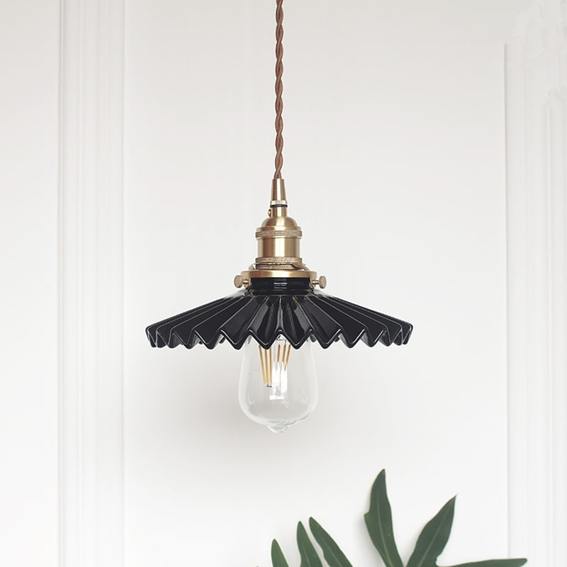 Pendant Light Ceramic Shade Brass Color Ceiling Fixture Pendant Lamp Chandelier Unique Ceramic In 2020 Ceramic Light Pendant Light Light