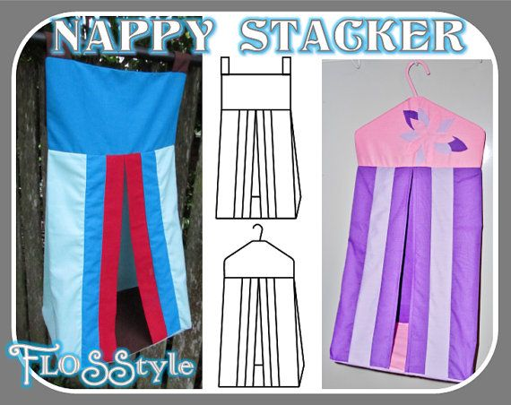 NAPPY STACKER PDF Pattern 2 designs with easy by FLOSStyle on Etsy ...