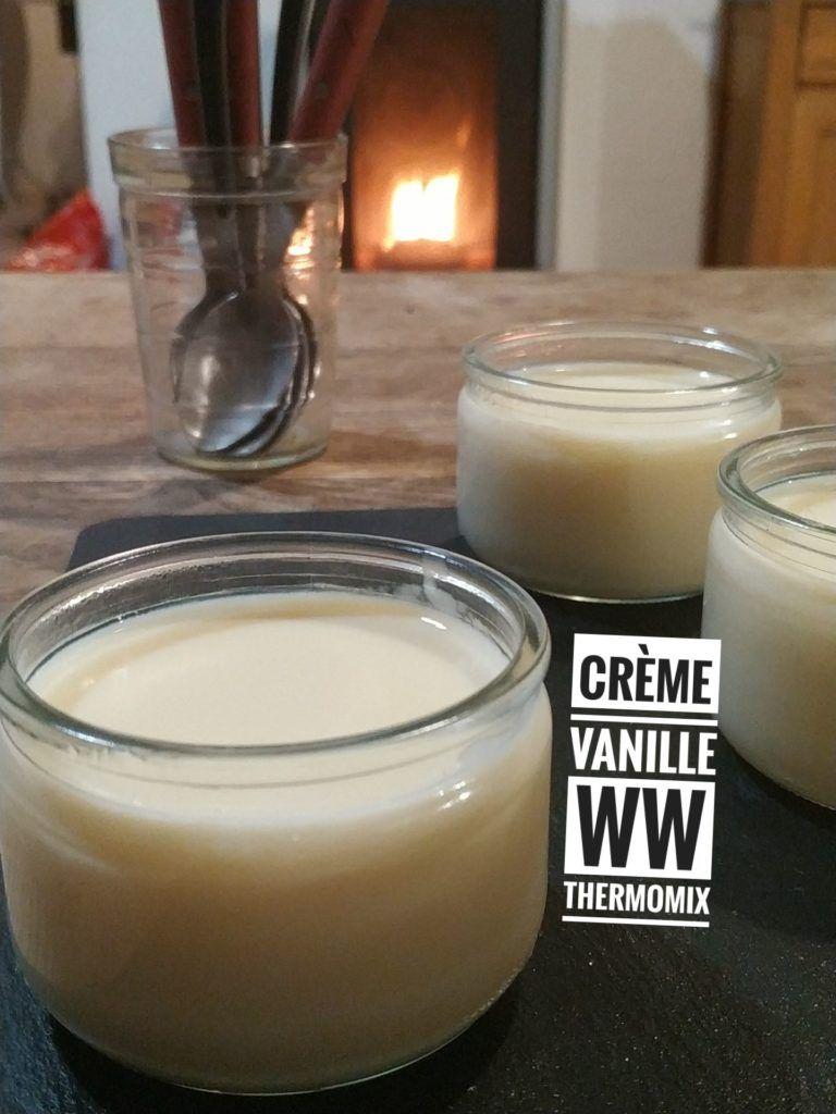 Crème à la vanille ww thermomix   Recette en 2020   Creme
