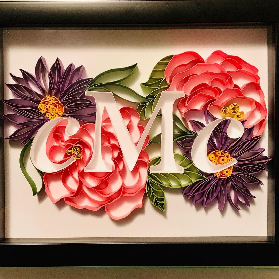 Lauren Byrne On Instagram Made This Cutie For A One Year Anniversary First Year Is Paper By Th Paper Quilling Flowers Anniversary Gifts One Year Anniversary