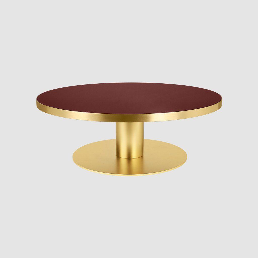 Gubi 2 0 Coffee Table Round Dia 125 Brass Base Gubi Webshop [ 1024 x 1024 Pixel ]