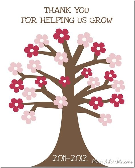 Thank You For Helping Us Grow Free Printable Staff