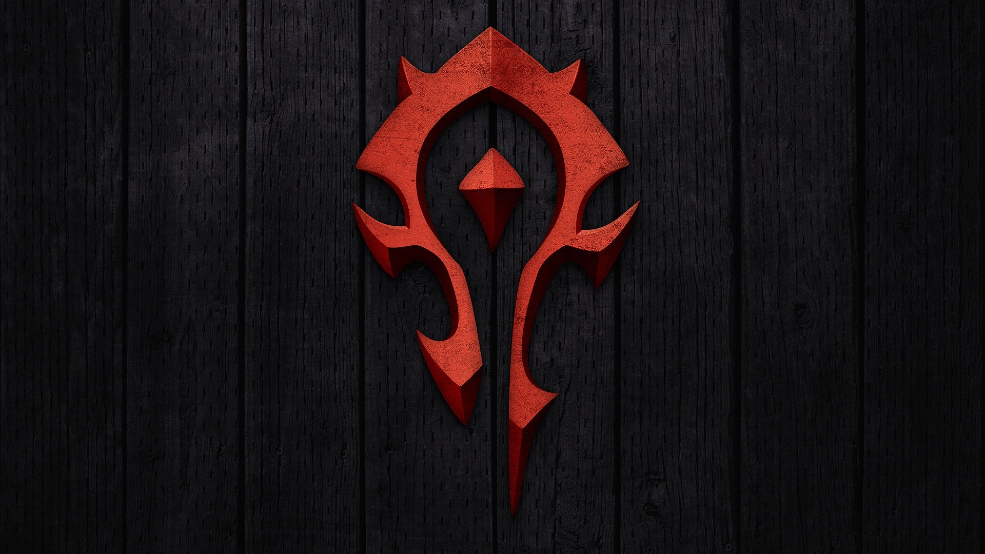 3840x2160 Wallpaper world of warcraft, horde, symbol