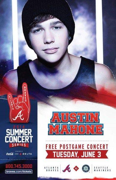 Atlanta braves free austin mahone post game concert june 3 atlanta braves free austin mahone post game concert june 3 voltagebd Image collections