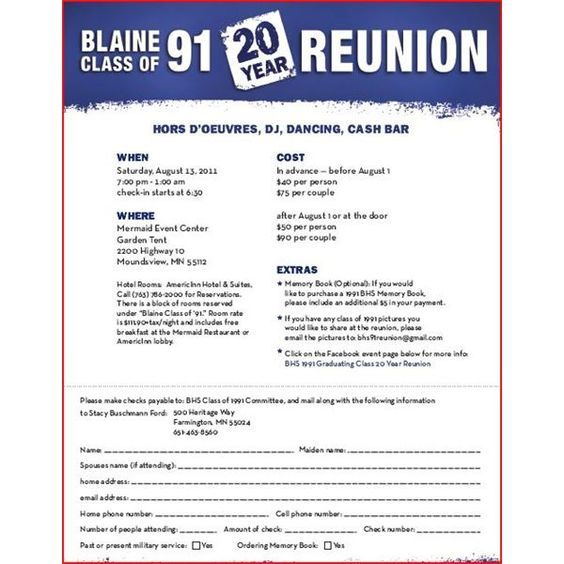 Announce Your High School Reunion With These Free Flyer Templates - class reunion invitation template