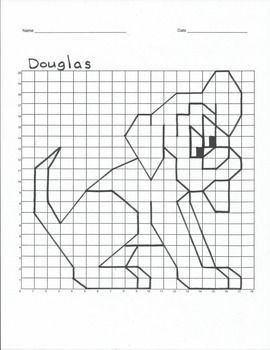 Quadrant 1 Coordinate Graph Mystery Picture, Douglas the