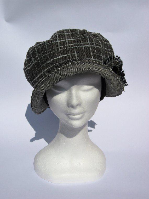 Cappello newsboy anni 40, cappello con visiera tessuto ...