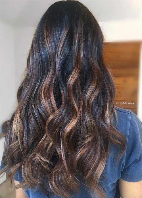 100 Dark Hair Colors Black Brown Red Dark Blonde S #black #blonde #Brown #Colors #dark #hair #red #Shades #Underlights_Hair_burgundy #darkbrownhair