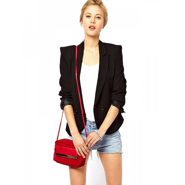 Double-breasted Back Lapel Shrug Suit