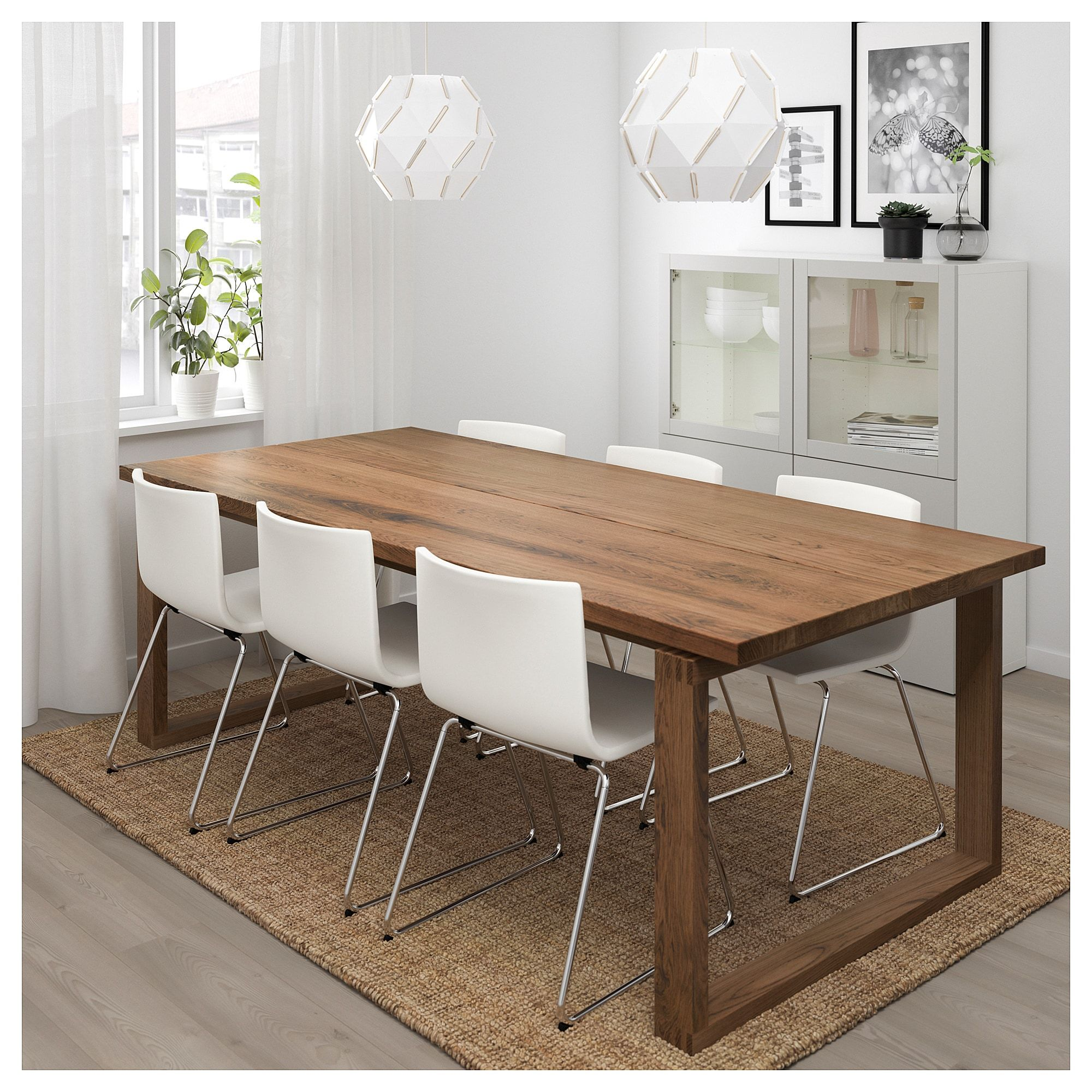 Ikea MÖrbylÅnga Bernhard Table And 6 Chairs Brown Kavat White