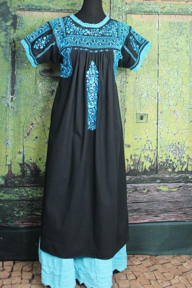 Mexican old fashion long dresses san antonio