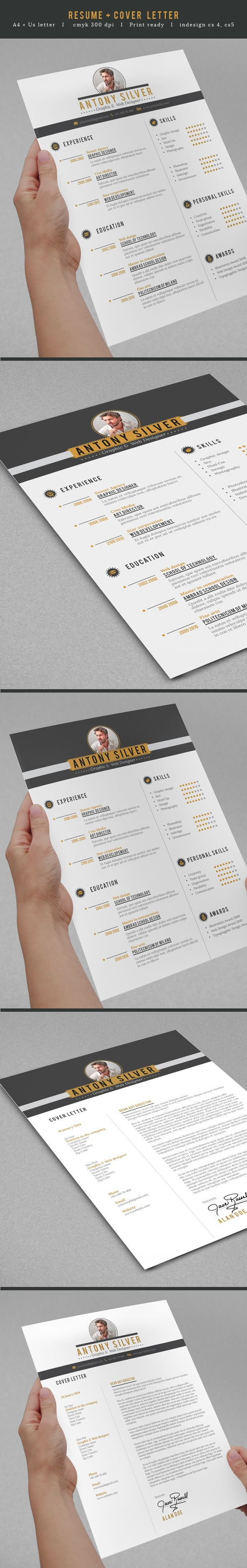 cv and resume format%0A Clean cut resume with some style to it  If you u    re a user experience    Cv  Resume TemplateResume