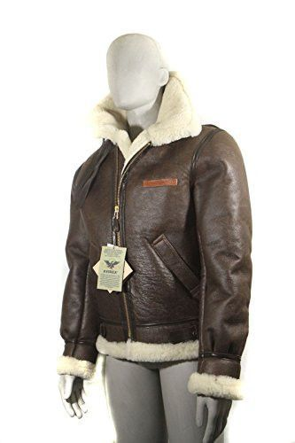 448536962afd4 MEN'S AVIREX LDT B-3 BROWN LEATHER SHEEP SKIN SHEARLING BOMBER JACKET W/  TAG- MADE IN USA