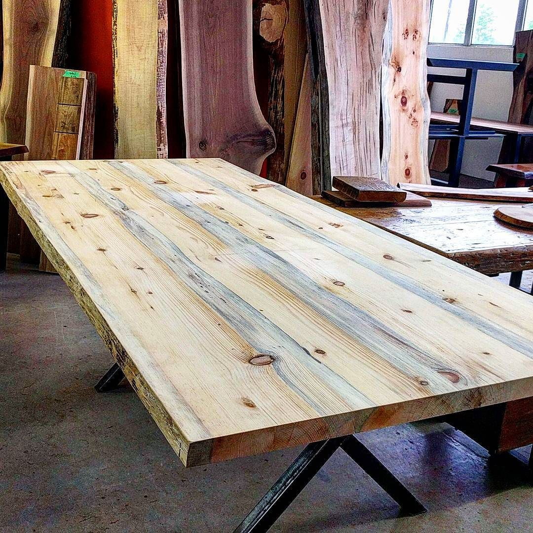 Cool Live Edge Pine Table Top Ready to Be Your Next Dining Table For