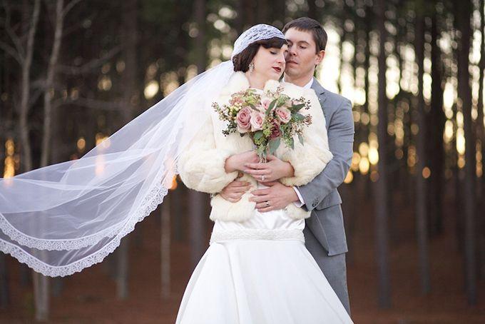 Winter Great Gatsby Wedding Inspiration-2014 Hottest Wedding Trends Romance, Formality, Gatsby