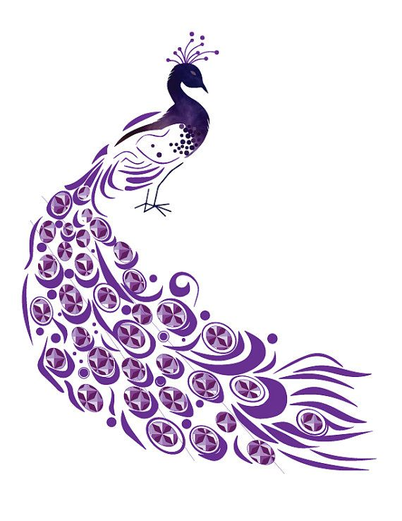 INSTANT DOWNLOAD Peacock Vector Printable Iron On Transfer Paper DIY T Shirt Card Pillow Clip Art Scrapbooking