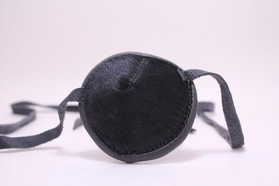 Black Leather Eye Patch Eyepatch Slade Wilson Deathstroke Arrow Pirate Cosplay Gothic Halloween Carnival Franky Cook Angelina Jolie Party