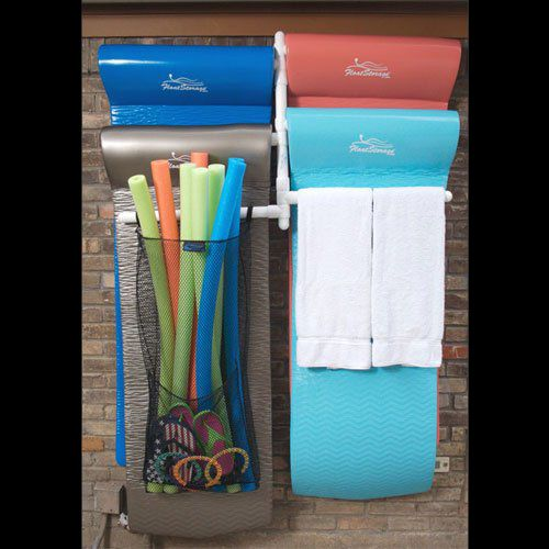 Pool Toy Storage Ideas pool pantry pool float storage Pool Float Storage Ideas