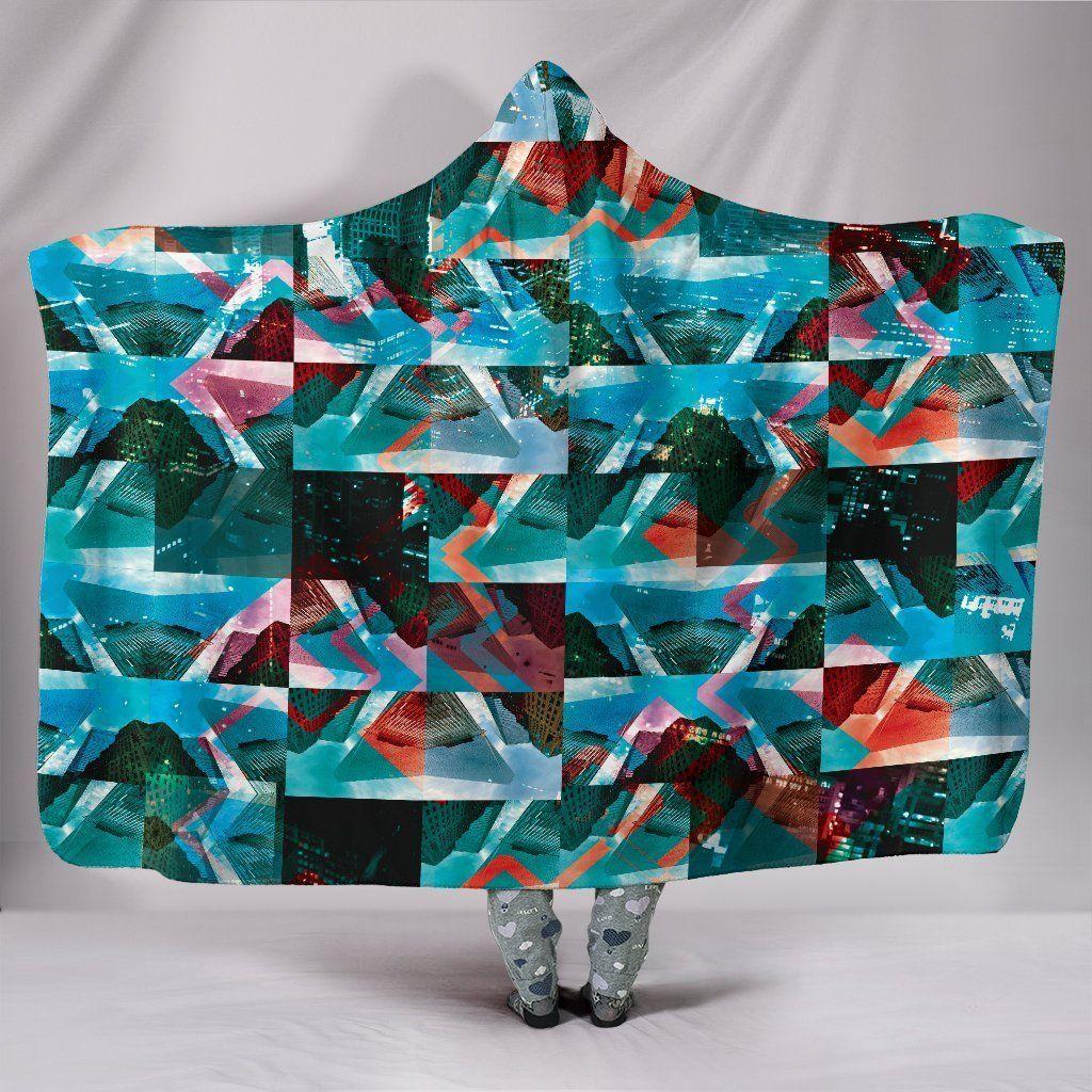 Photo of Open Grid – Hooded Blanket – Open Grid / Adult 80×60