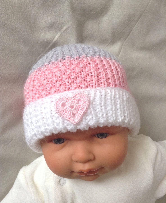 marque populaire Acheter Authentic style actuel Ensemble naissance fille, bonnet et chaussons, blanc, rose ...