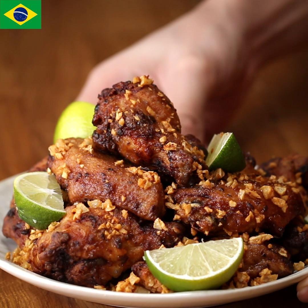 Znalezione obrazy dla zapytania Brazilian Chicken Wings (Frango À Passarinho) tasty around the world