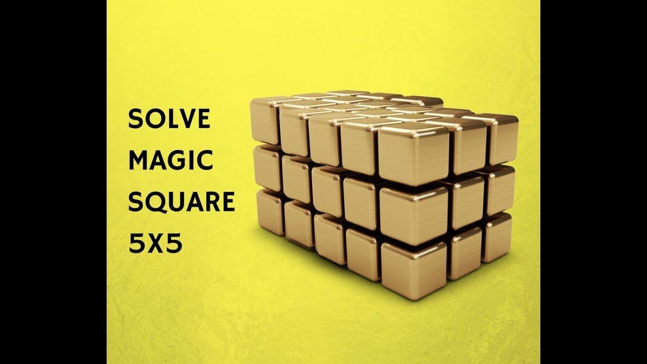 solve magic square 5x5 sum 65 genius iq test magic square puzzle