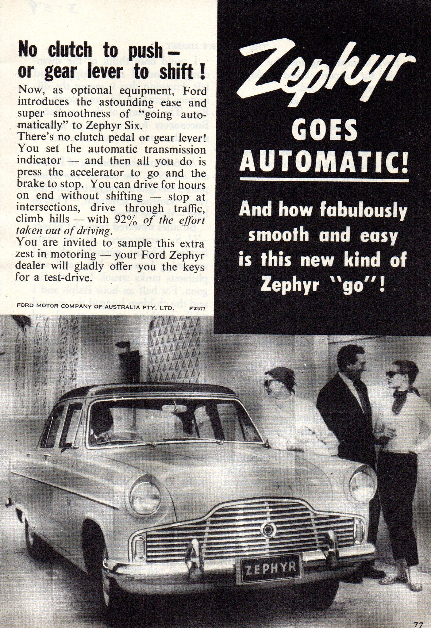 1959 Ford Zephyr Six Mark Ii Sedan Aussie Advertsement Ford