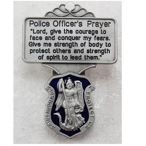 St Michael Police Officer Prayer Visor Clip