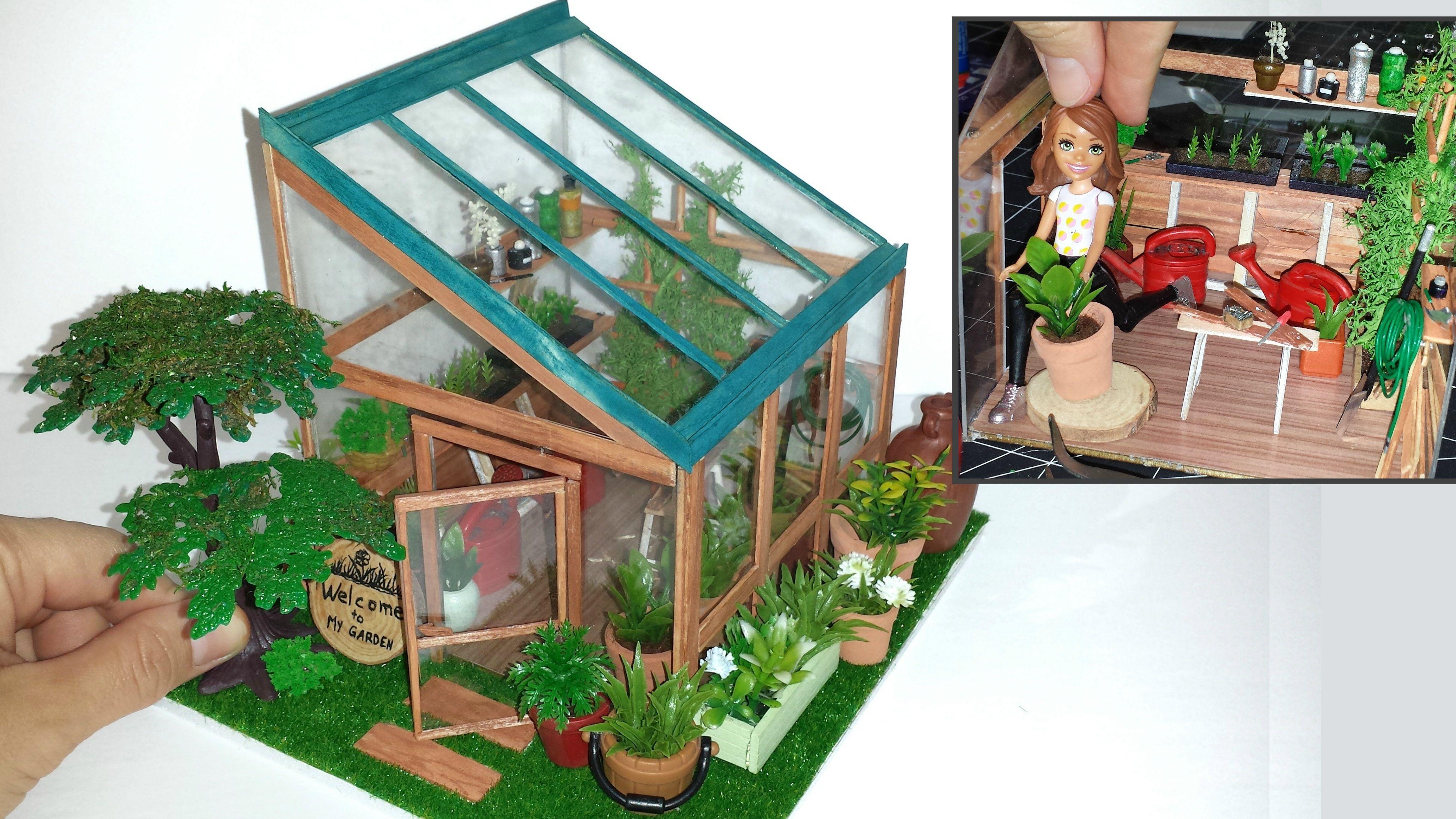 Diy miniature dollhouse greenhouse not a kit enjoy