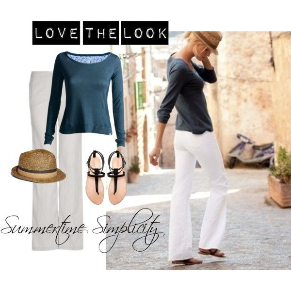 Summertime Simplicity, created by bluehydrangea on Polyvore