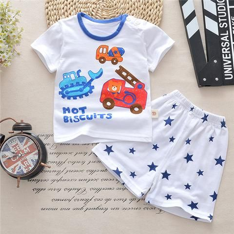 51bf83e1ca39 Summer new style infant baby girls boys cotton short sleeve clothes ...