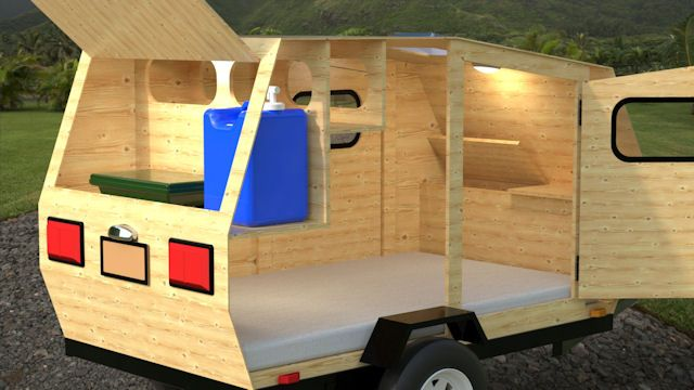 Simple Weekender | Homemade camper, Camping trailer diy ...
