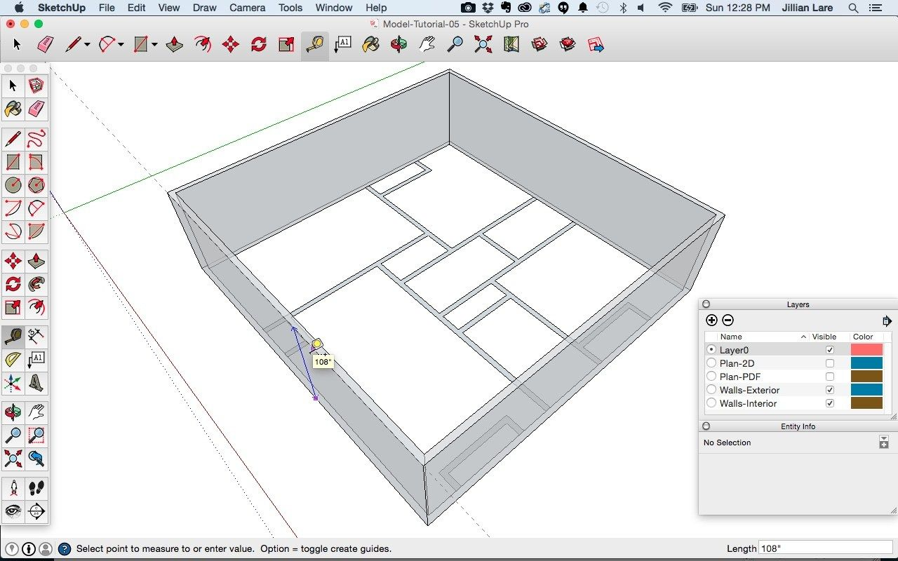 In This Beginner Sketchup Tutorial Learn How To Turn A 2d Floor Plan Into A 3d Model Of A House With Openings For Windows And Floor Plans How To Plan Flooring