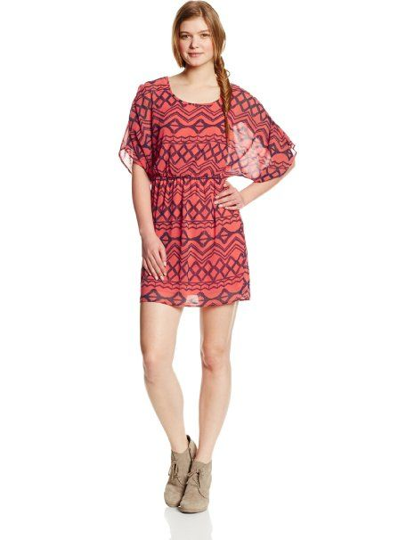 My Michelle Women's Short Sleeve Printed Chiffon Dress at Amazon Women's Clothing store 22.73