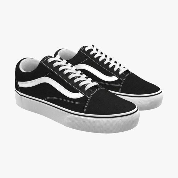 3d Model Shoes Vans Old Skool Con Imagenes Modelos