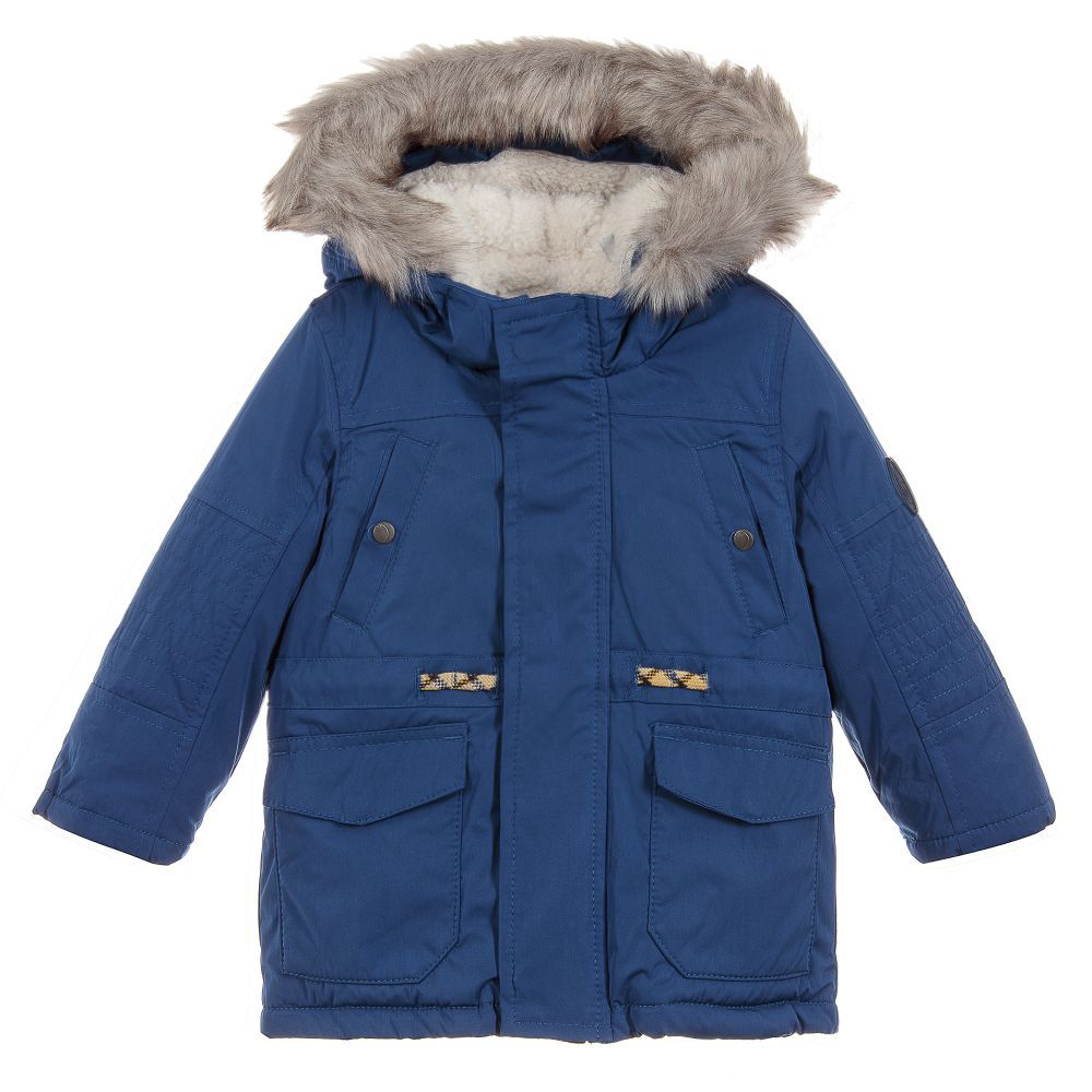 2880fcda8 Boys Blue Water Repellent Coat for Boy by IKKS. Discover the latest ...