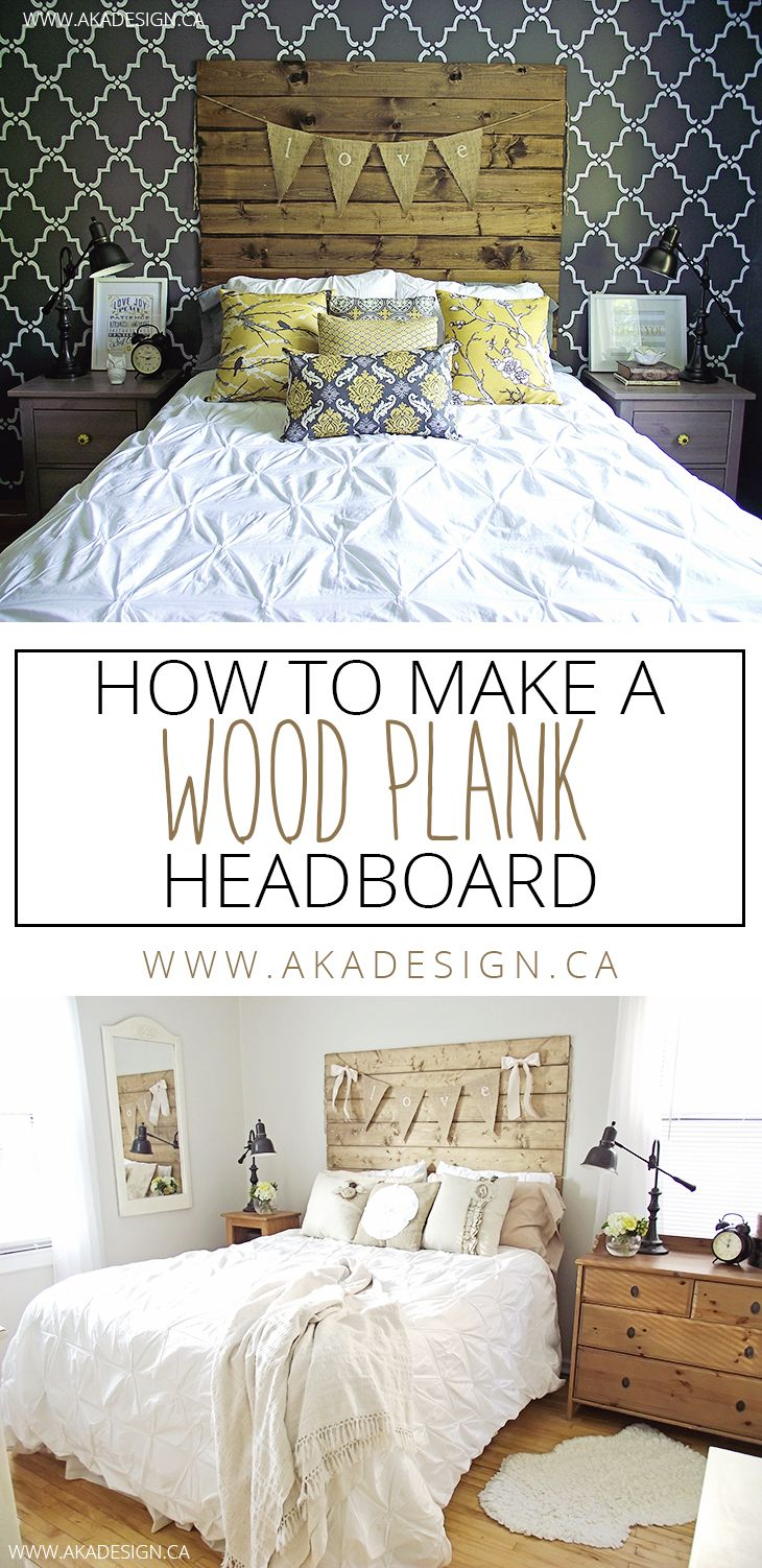 Headboard Alternative Ideas How To Make A Wood Plank Headboard Wood Planks Woods And Bedrooms