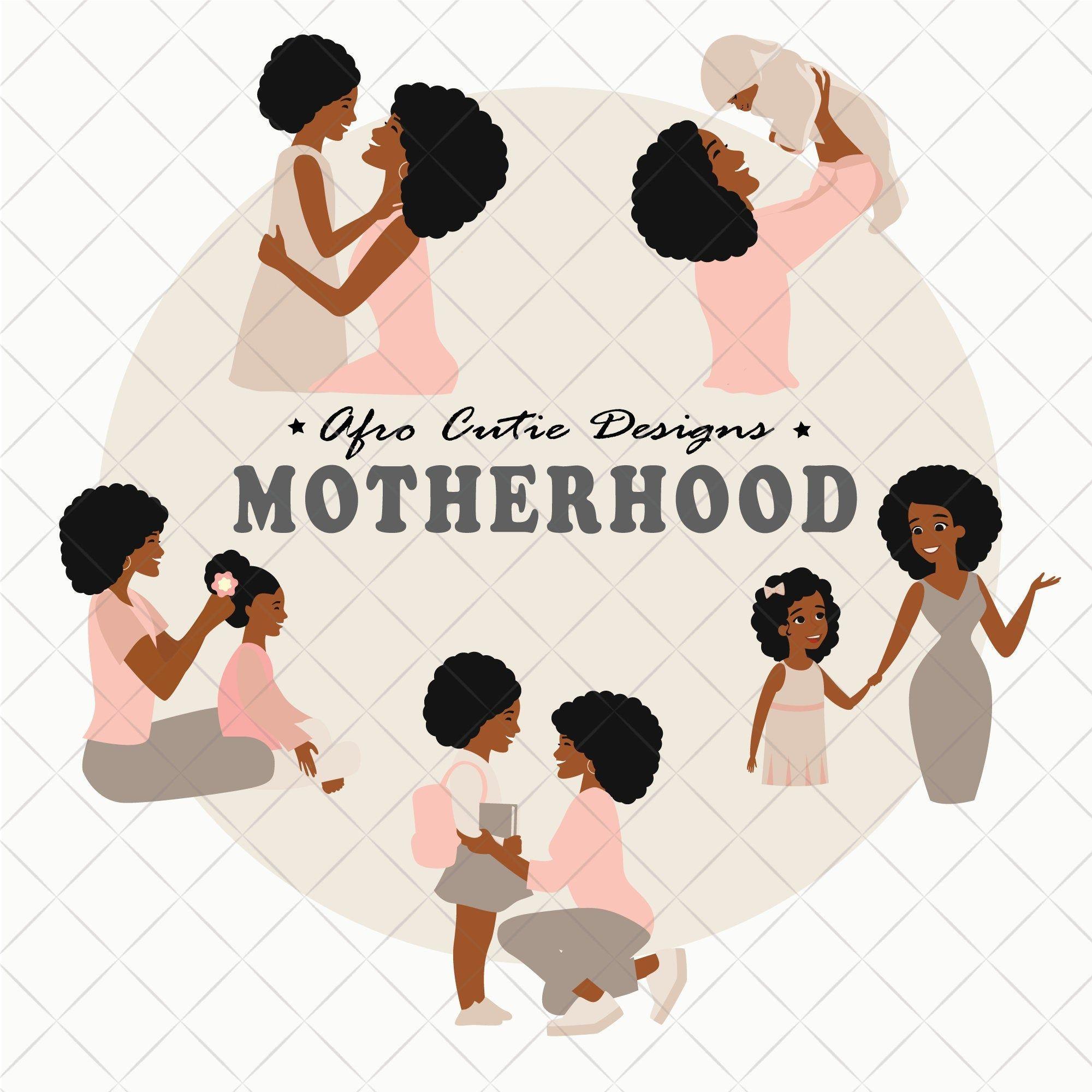 African American Mom Clip Art Motherhood Mother S Etsy In 2021 African American Moms Mom Clips African American Mothers
