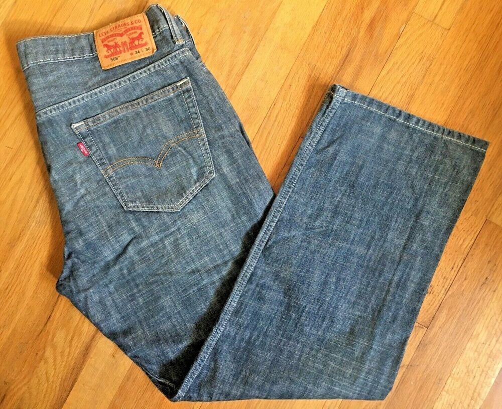 a77c99bb01c LEVIS STRAUSS LEVI'S 569 Mens Cotton Denim Jeans 34 W X 30 L Perfect UWC! # Levis #569