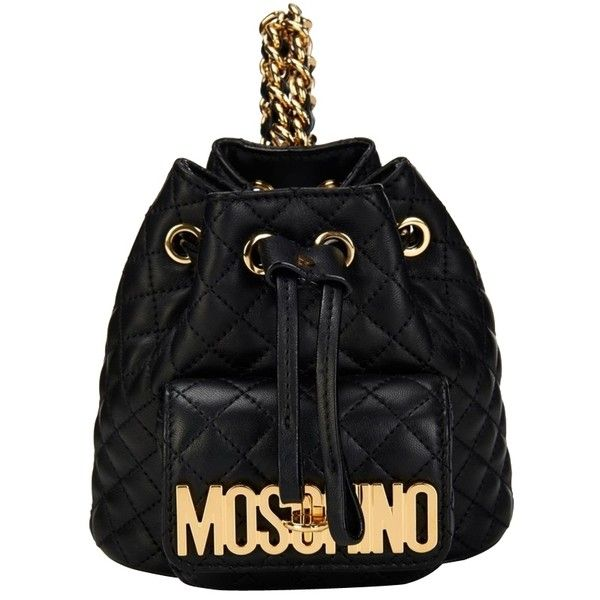 Pre-owned Moschino Quilted Mini Leather Backpack ($1,050) ❤ liked ... : black quilted rucksack - Adamdwight.com