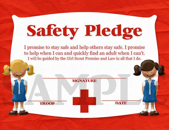 Girl Scouts Daisy Safety Pledge Certificate | Daisy girl ...