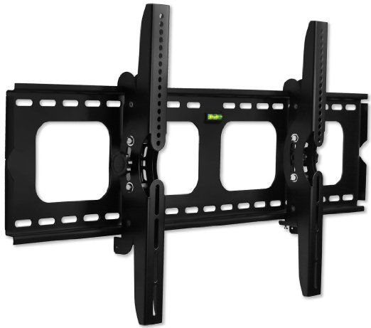 """Mount-It! Premium Universal Heavy-Duty Tilt Tilting Wall Mount Bracket For Samsung, Sony, Vizio, LG, Panasonic, LCD, LED Or Plasma Flat Screen TVs Sizes 42"""" To 70"""" (42 Inch - 70 Inch), Many up To 75"""" - 15 Degree Tilt Mechanism Up and Down, Max VESA 850x450 mm, 220 lbs Capacity, Integrated Bubble Level"""