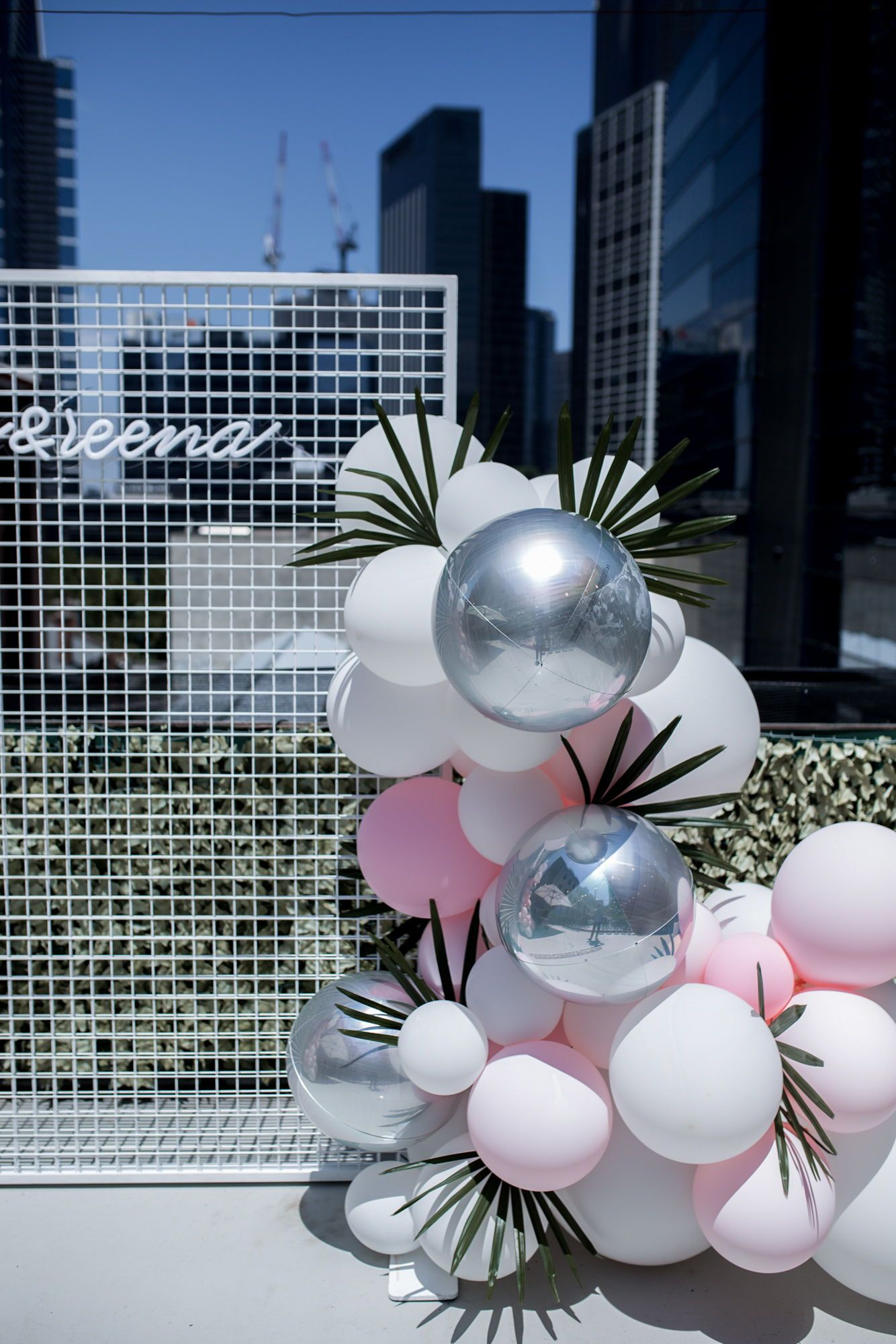 Wedding Inspiration Ceremony With Balloon Installation