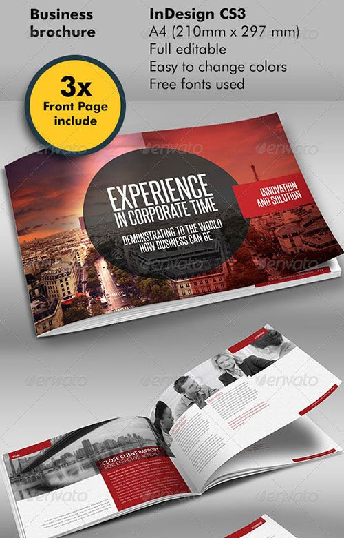 30 Awesome Indesign Brochure Templates Layout design Pinterest