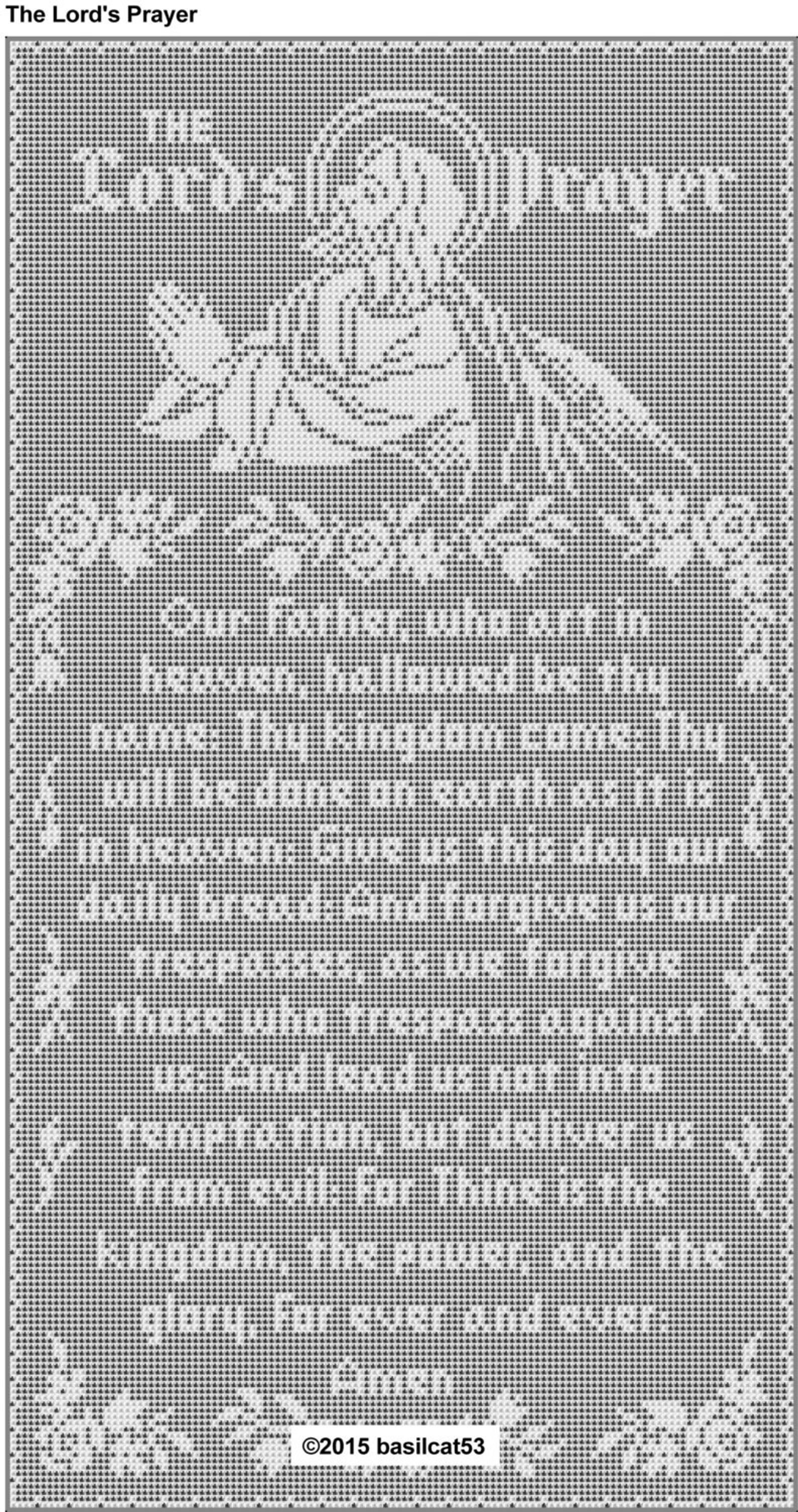 The Lord's Prayer Thread Filet Crochet Wall Hanging