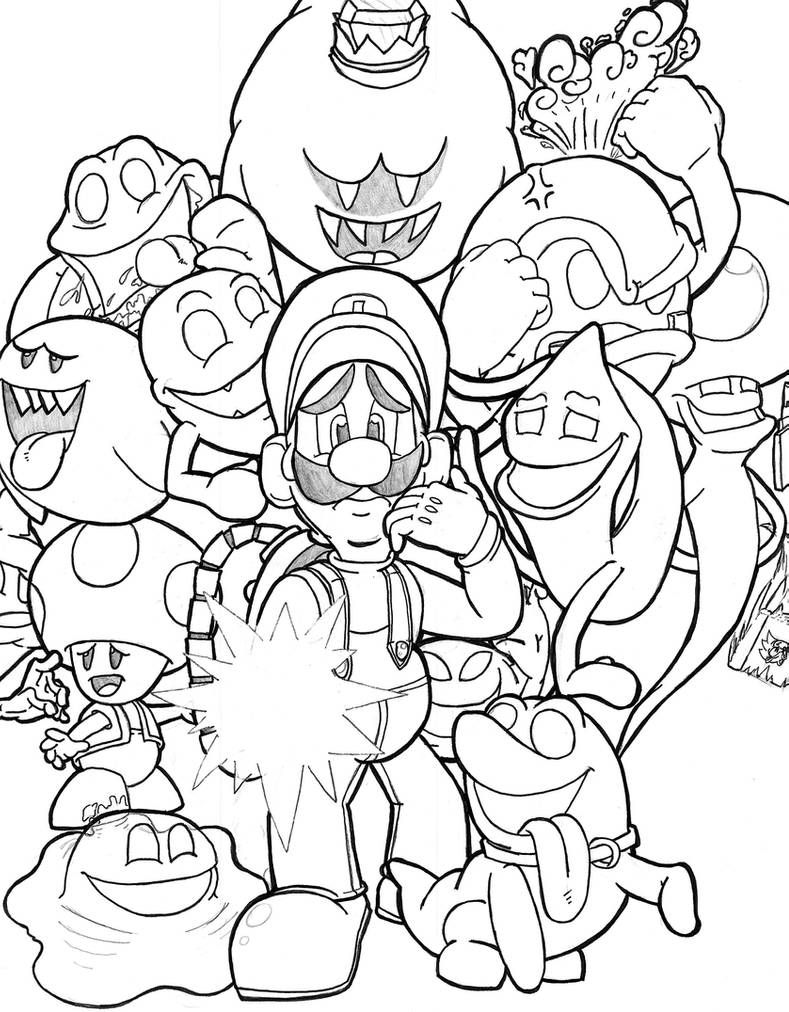 There S Something Behind Me Isn T There Luigi By Th3antiguardian On Deviantart Super Mario Coloring Pages Mario Coloring Pages Coloring Pages