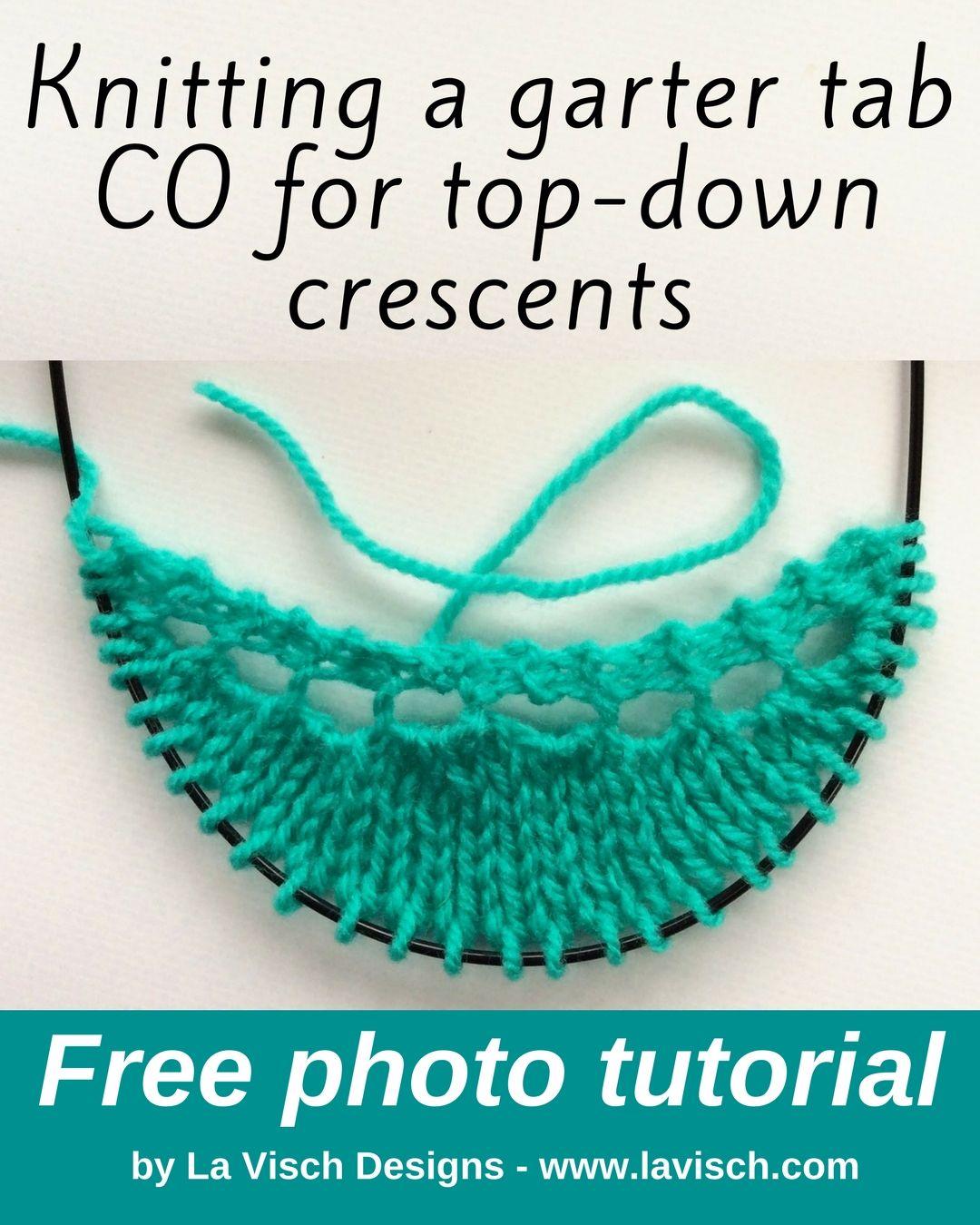 Tutorial Garter Tab Co For Top Down Crescents La Visch Designs Loom Knitting Shawl Knitting Patterns Knitting