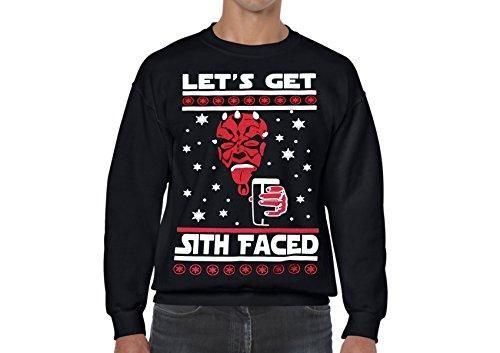 Star Wars Ugly Christmas Sweater Lets Get Sith Faced Sweatshirts